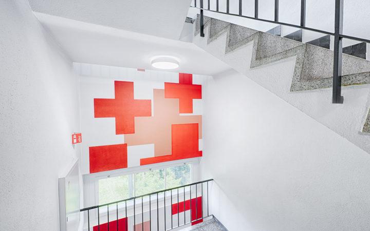 Treppenhaus Rotes Kreuz, Wabern (innere Malerarbeiten)